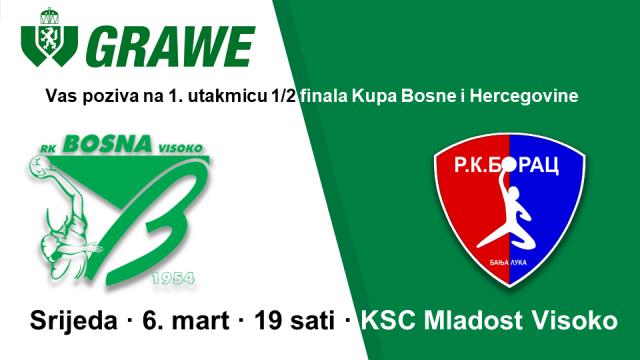 RK Bosna Visoko - RK Borac Mtel Banja Luka by Grawe