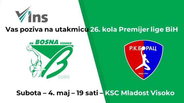 RK Bosna Visoko - RK Borac Banja Luka